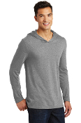 UNISEX Long Sleeve Triblend Hooded Tee (2 COLOR CHOICES)