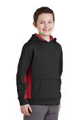 YOUTH Fleece ColorBlock Hooded Pullover (2 COLORS)