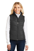 LADIES Puffy Vest (BLACK/BLACK)