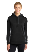 LADIES Fleece ColorBlock Hooded Pullover (2 COLORS)